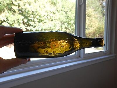 Antique Western Beer Bottle - Crude and Whittled - California Dug