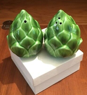 Vintage Salt and Pepper Shakers Artichokes By Holt-Howard (HH)