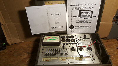 Vtg PRECISION 660 TUBE TESTER Data Paco Checker Meter Radio Vacuum TESTED WORKS