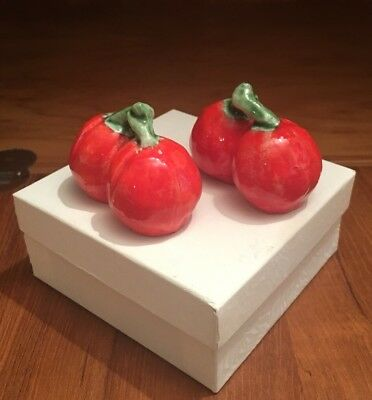 Vintage Salt And Pepper Shakers Cherry Tomatoes Very Nice Condition