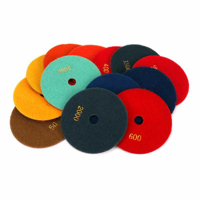 5 Inch Dry/Wet Diamond Polishing Pads Buffing Disc For Granite Stone Concrete
