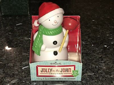 Hallmark - Jolly in the John - Singing Motion activated Snowman Plumber w/ Box