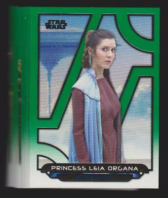 2018 Topps Star Wars Galactic Files Lot of 18 Different Green Parallels /199!