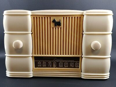 REMLER 5510 AM TUBE RADIO Scottie Dog Scottish Terrier Scotty Works 1947 - AS IS