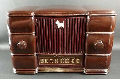 REMLER 5500 AM TUBE RADIO Scottie Dog Scottish Terrier Scotty Works 1947 - AS IS