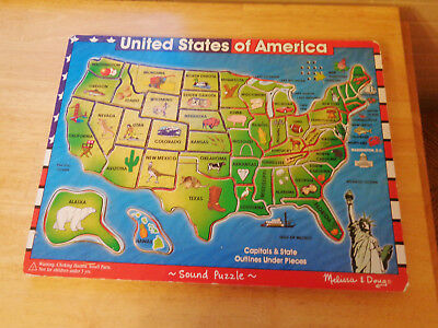 MAGNETIC PUZZLE MAP USA United States PicClick - Melissa and doug usa map puzzle