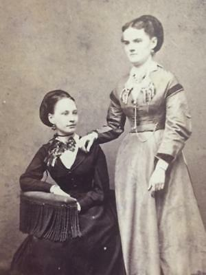 Antique Civil War era CDV Photo 2 Lovely Women