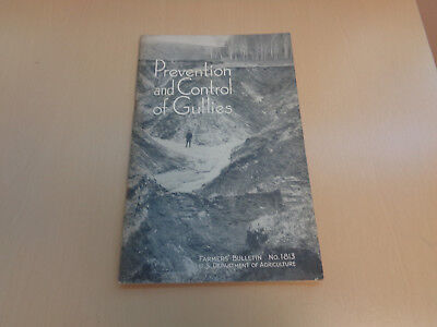 1944 Department of Agriculture Farmers' Bulletin-Prevention of Gullies