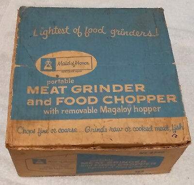 Vintage Sears Maid Of Honor Portable Meat Grinder and Food Chopper USA 1960's