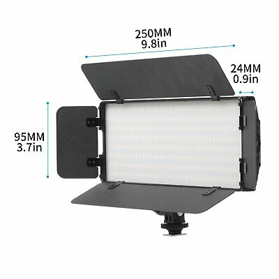 Meking 30W LED Video Light Panel With Barndoor Outdoor Flash For Photography
