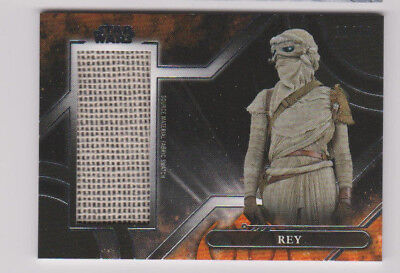 2018 Topps Star Wars Galactic Files Rey Source Fabric Costume Relic 11/50!