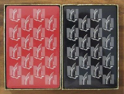 Vintage Nationwide Insurance (Two Decks) Congress Playing Cards New Sealed w Box