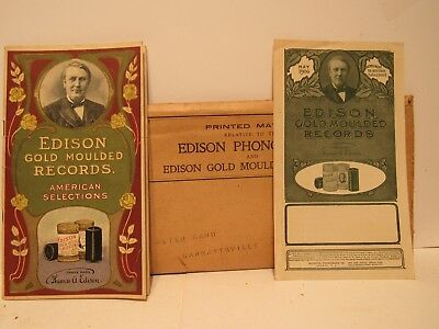 Edison Gold Moulded Records Pioce List Booket April 1905