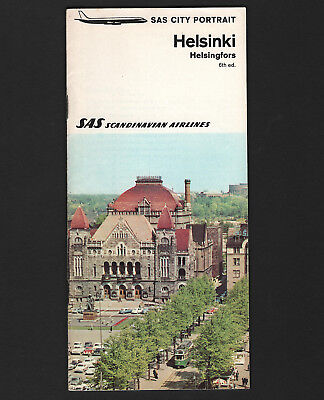 OPC 1969 SAS Scandinavian Airlines 37pg City Portrait Helsinki Brochure
