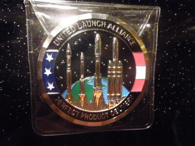 United Launch Alliance ULA Medallion Coin Perfect Product Mission Success Falcon