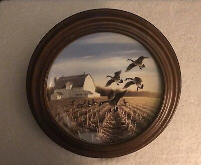 "DUCKS UNLIMITED  ""Canada Geese in the Autumn Field"" by Linda Kaatz Plate #12413A"