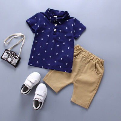 Toddler Kids Baby Boy Casual Clothes Boys Outfits Sets T shirt + Pants Dot Tops