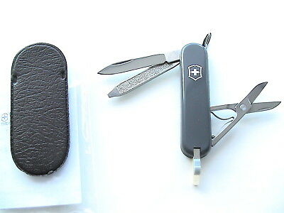 NEW, UNBOXED! VICTORINOX SWISS ARMY GRAY CLASSIC 53006 w/FACTORY POCKET POUCH