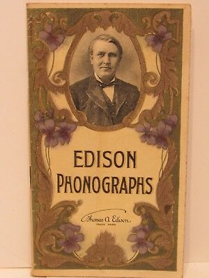 Edson Phonographs Catalog Early 1900's