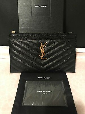 ae4a265daa Authentic Saint Laurent (YSL) Monogram Leather Bill Pouch New With Box
