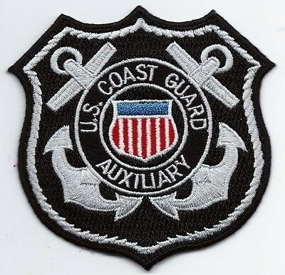 United Staters Coast Guard USCG patch Auxiliary black 3-1/4X3-1/4X 3-1/8 #3415
