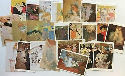 Postcards Toulouse Lautrec X 24 For Craft Or Hobby Etc