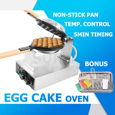 220V 50℃-250℃ Egg Cake Oven Eggette Waffle Maker Baker Machine Electric Nonstick