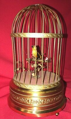 German K.g. Singing Bird Cage Musical Automaton Music Box