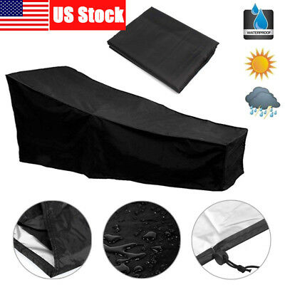 "Patio Chaise Lounge Cover 82"" Outdoor Lounge Chair Covers Protector Waterproof"