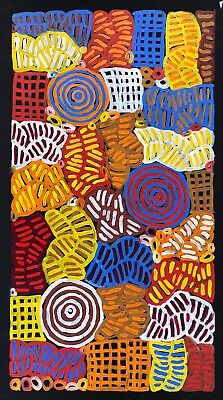 "BETTY MBITJANA  "" Collectable Aboriginal Art"" Daughter of Minnie Pwerle."