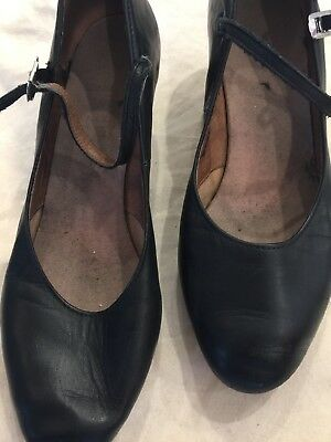 Bloch Black Leather Character dance shoes size 8 1/2