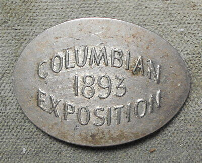 M&D ILL WCE-1a Columbian Exposition 1893 Elongated On 1872 Shield 5c Uncommon