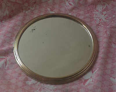 Antique French brass framed mirror boudoir tray