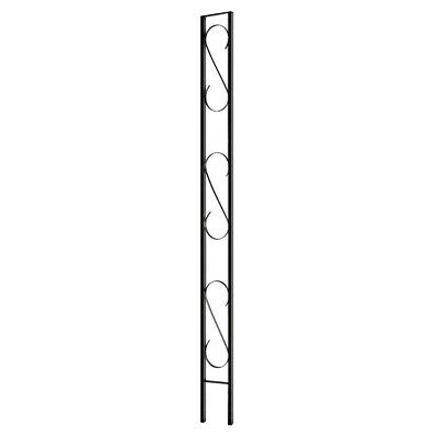 Village Ironsmith Scroll Design Black Steel Flat Home Decorative Column Decor