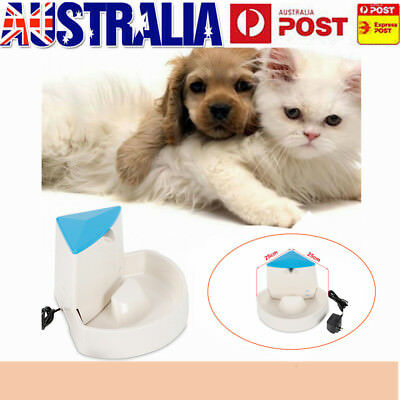 2.5L Automatic Electric Pet Water Fountain Dog Cat Drinking Bowl Fit Corner