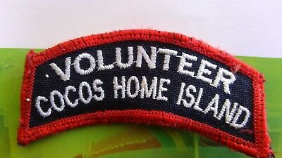 Volunteer Cocos Home Island Fire And Rescue Patch/badge