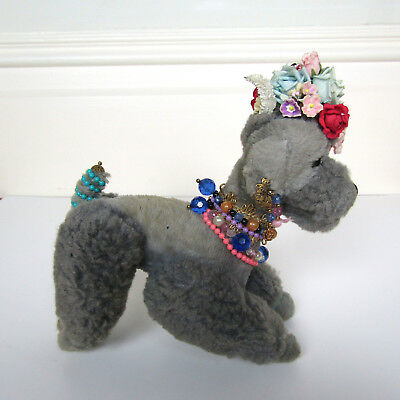 Vtg 50s STEIFF SNOBBY POODLE STUFFED ANIMAL Wool Puppy Dog Stuffed Animal Toy
