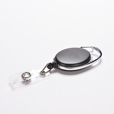Retractable Reel Recoil ID Badge Lanyard Name Tag Key Card Holder ClipBeltClipPB