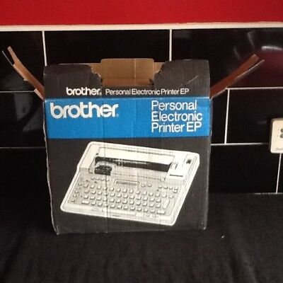 Brother Vintage Boxed Portable Word Processor Electric Office Typewriter