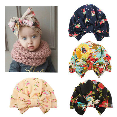 Newborn Toddler Kids Baby Girl Turban Cotton Beanie Hat Winter Cap Lovely 664aef281f5