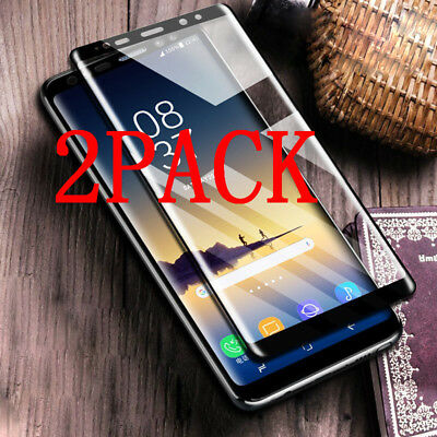 2x 3D Thin Premium Tempered Glass Screen Protector Film Fr Samsung Note 9 8 LOT