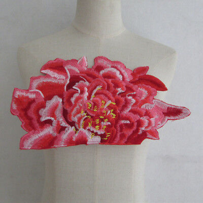 red peony Neckline Embroidered Craft Sewing clothing Neck YL911