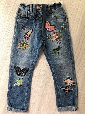 Girls Embroidered Jeans. Next. Age 3-4