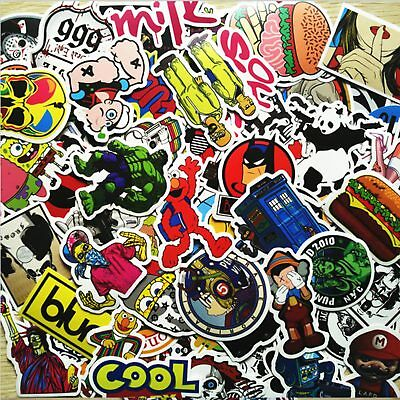 400 Random Skateboard Vinyl Sticker Skate Graffiti Laptop Luggage Car Bomb Decal