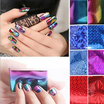 20Pcs New Foils Nail Art DIY Sticker Water Transfer Stickers Decal Tips Decor