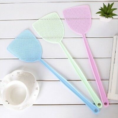 Fly Swatter Manual Swat Pest Long Handle Control Assorted Insect Killer Tool New