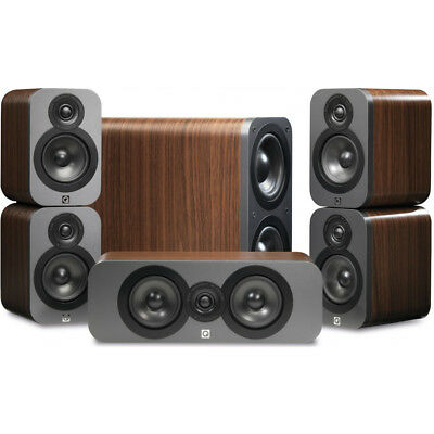 Q Acoustics 3000 Series 5.1 Home Cinema Speaker Pack - Walnut