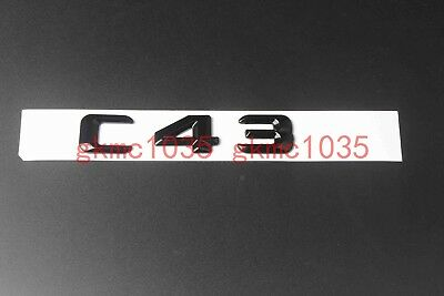 Gloss Black ABS Number Letters Car Emblem Sticker for Mercedes Benz S Class S550