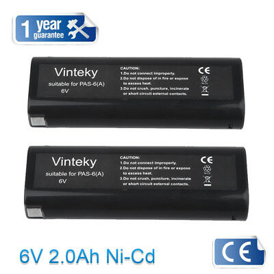 2X 2.0Ah for Paslode 404717 Impulse Oval Rechargeable 6V Battery IM350 IM350+
