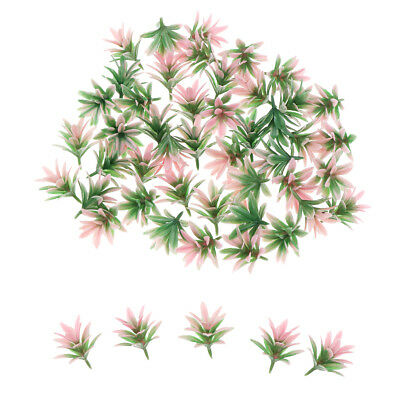 50x Mini Orchid Flower Trees Model Ornaments Diorama Models Decor Pink